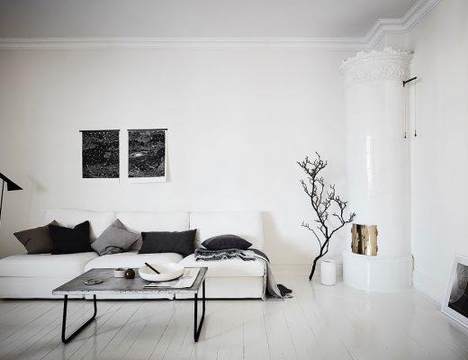 witte bank woonkamer
