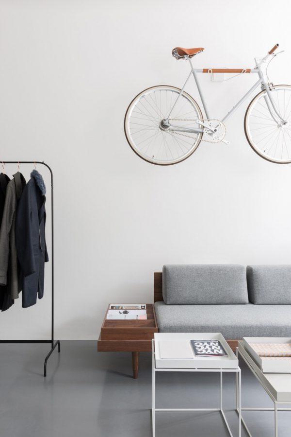witte fiets interieur