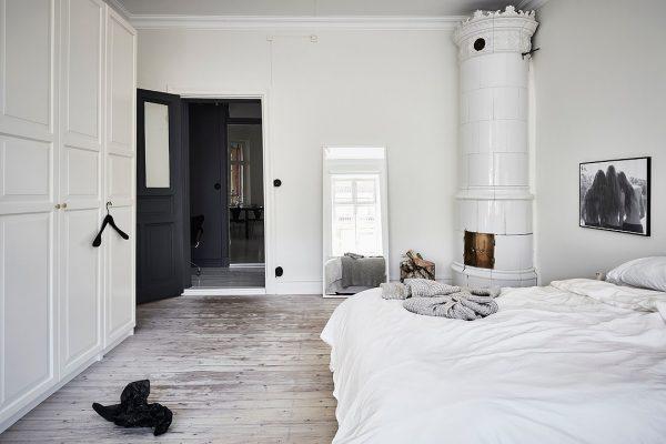 witte kast scandinavische slaapkamer