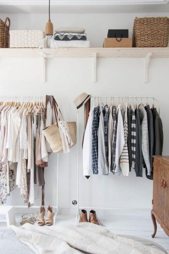 witte kledingrekken