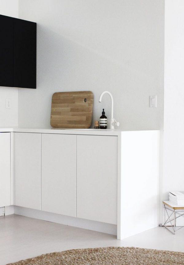 witte kraan keuken modern