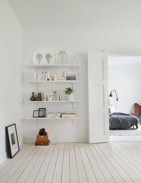 Witte muur inspiratie