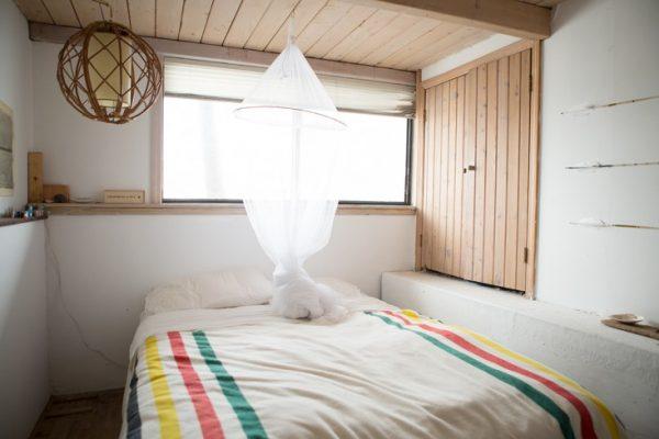 woonboot slaapkamer