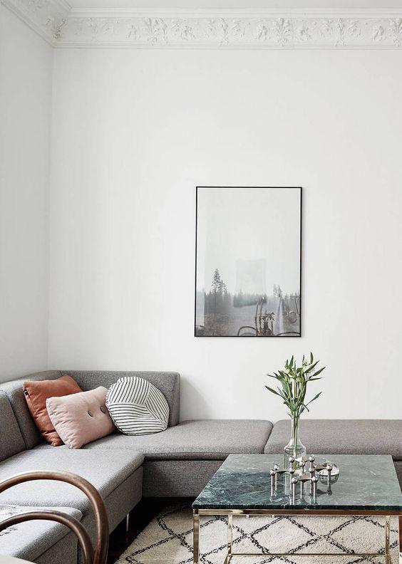 woonkamer ideeën decoratielijst plafond