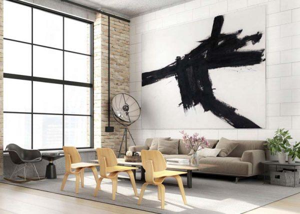 woonkamer ideeën groot schilderij