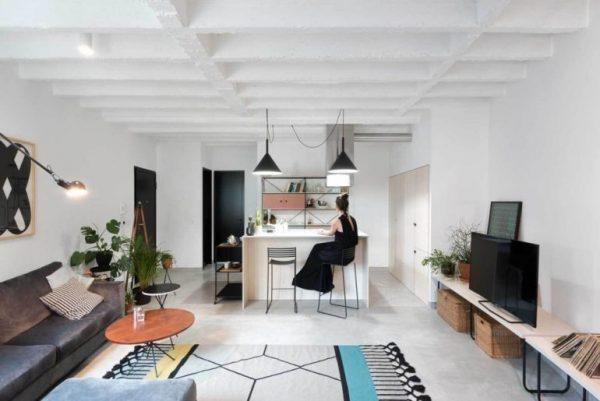 woonkamer ideeën kleurrijk vloerkleed