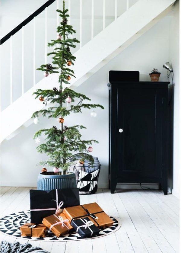 woonkamer kerstboom