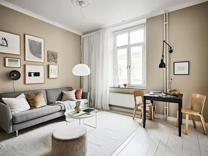 woonkamer knus warm maken ronde vormen
