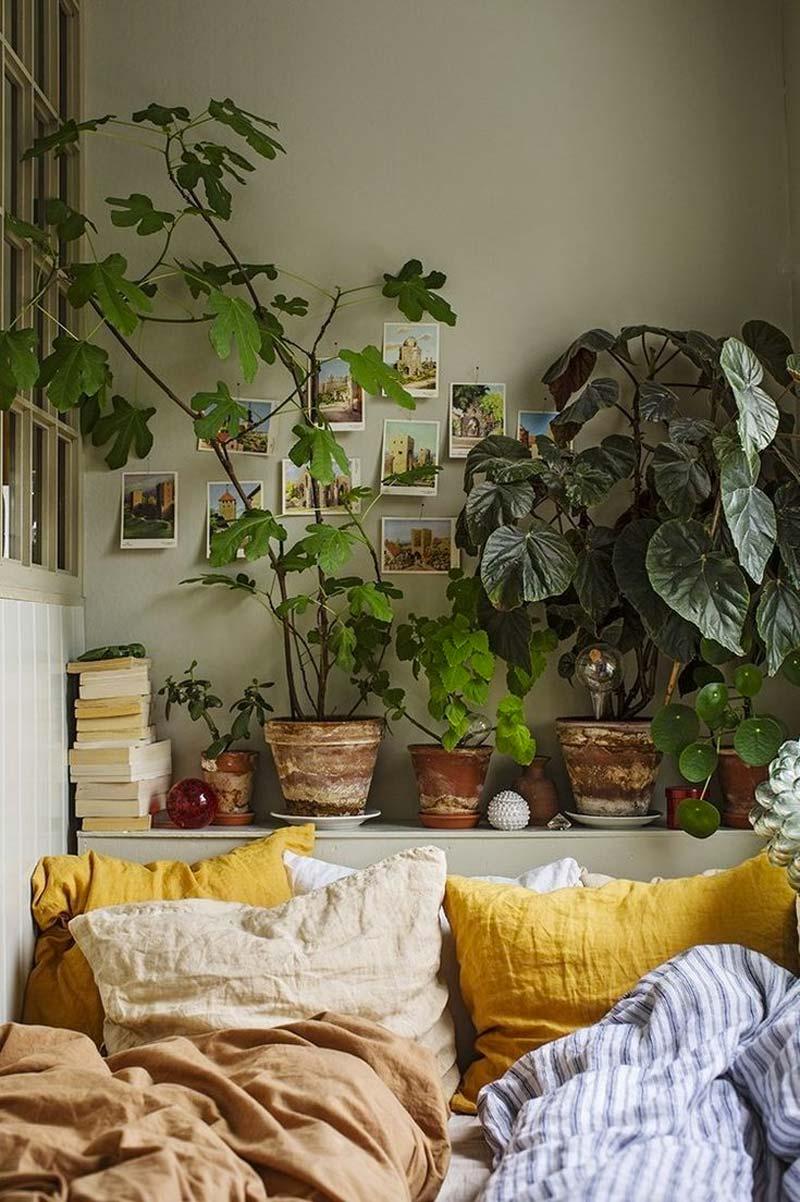 woontrends 2021 planten slaapkamer