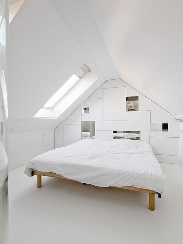 Zolder slaapkamer thestylebox - Slaapkamer met zichtbare balken ...