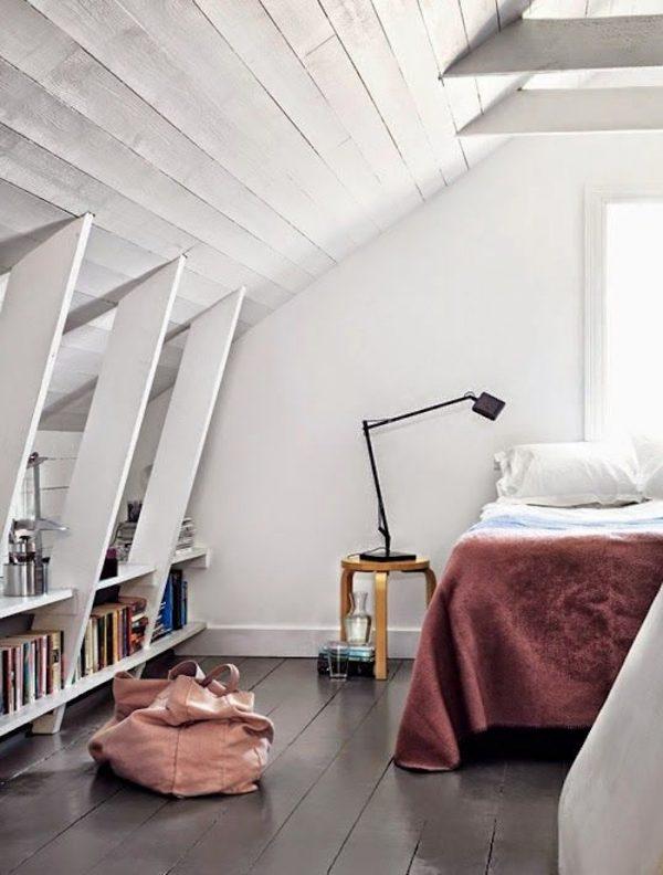 zolder slaapkamer zwarte vloer