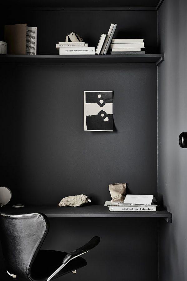 zwart kantoor