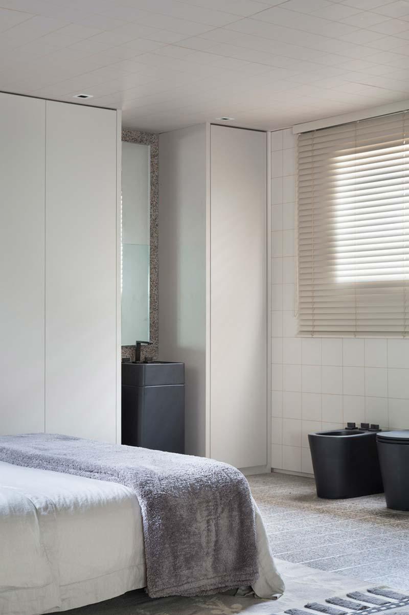 zwart toilet slaapkamer