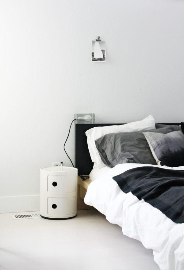 zwart-wit bed
