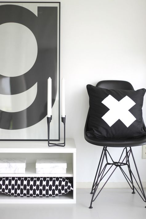 zwart-wit interieur