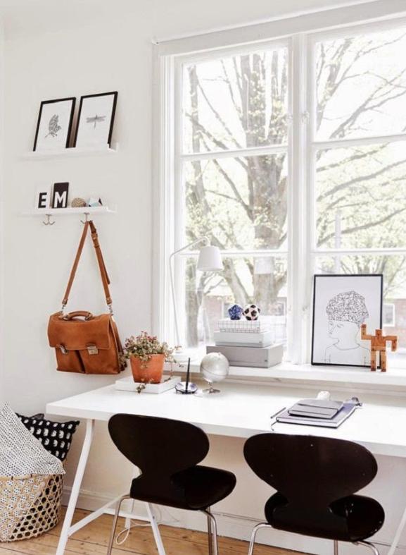 zwart wit kantoor