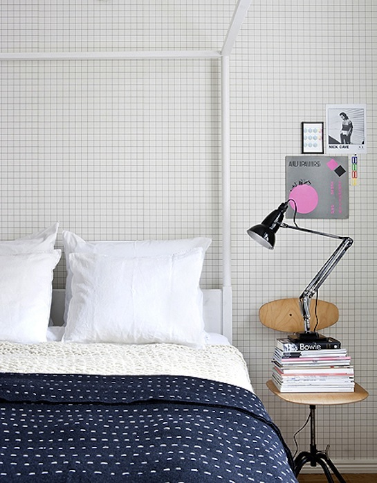zwart-wit patroon behang