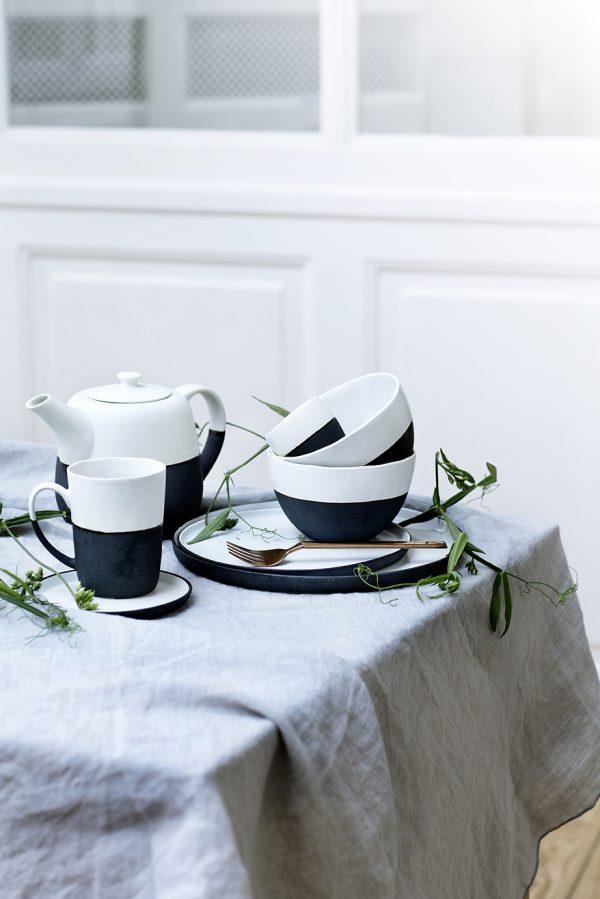 zwart wit servies