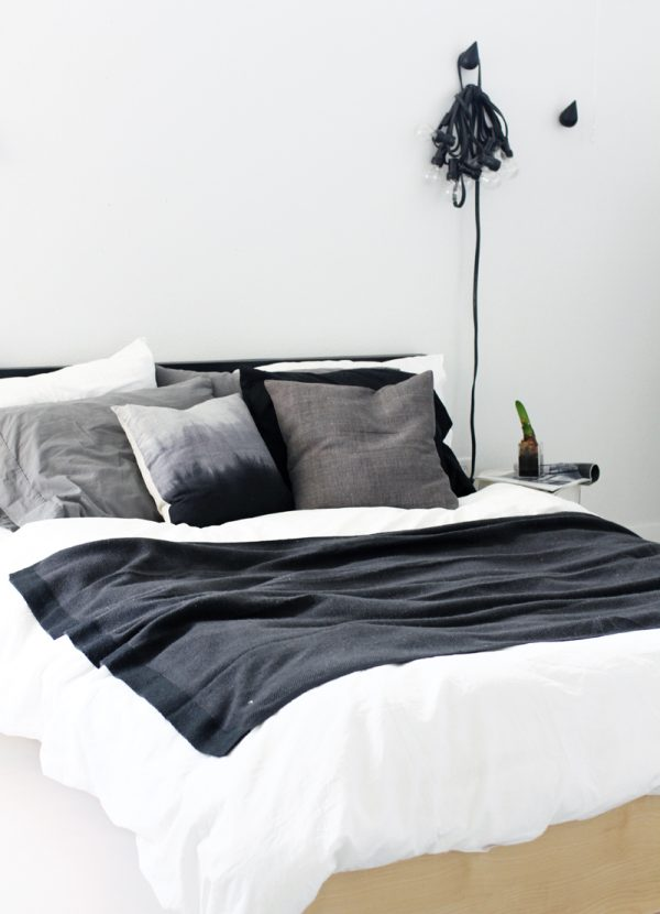 Zwart wit slaapkamer thestylebox for Slaapkamer bed