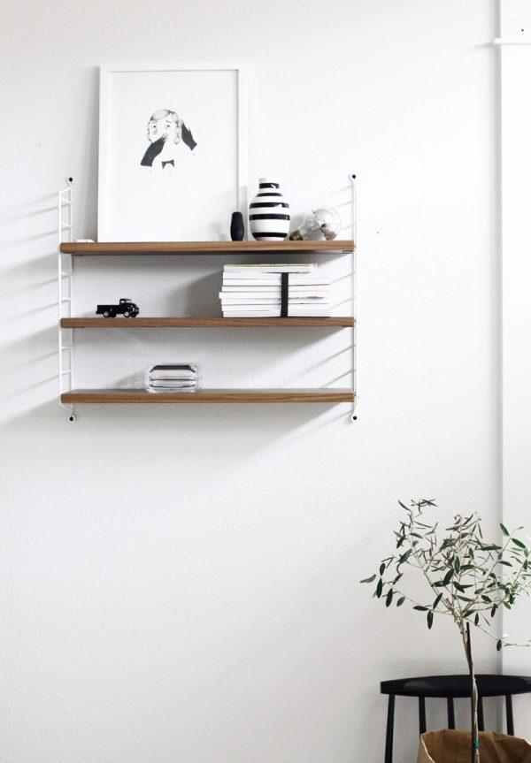 zwart-wit slaapkamer plankjes