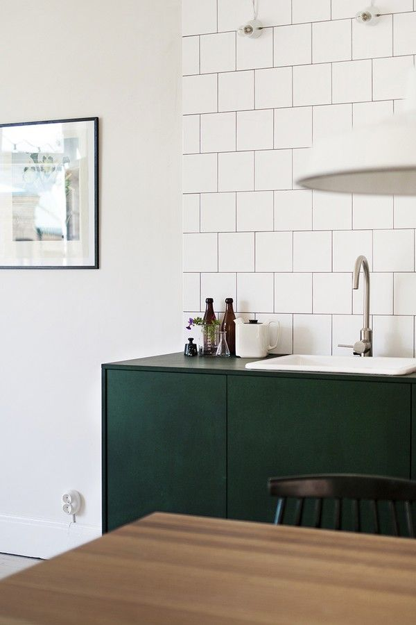 Zwart Wit Tegels Keuken : White Tile with Dark Grout