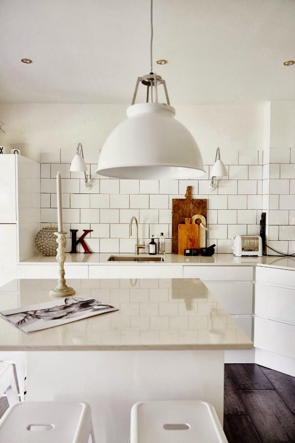Zwart Wit Keuken : All White Kitchen