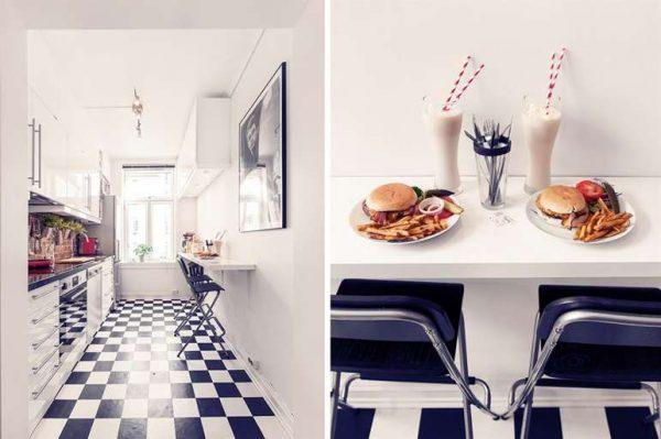 Nieuw Zwart wit vloer keuken - THESTYLEBOX HZ-49