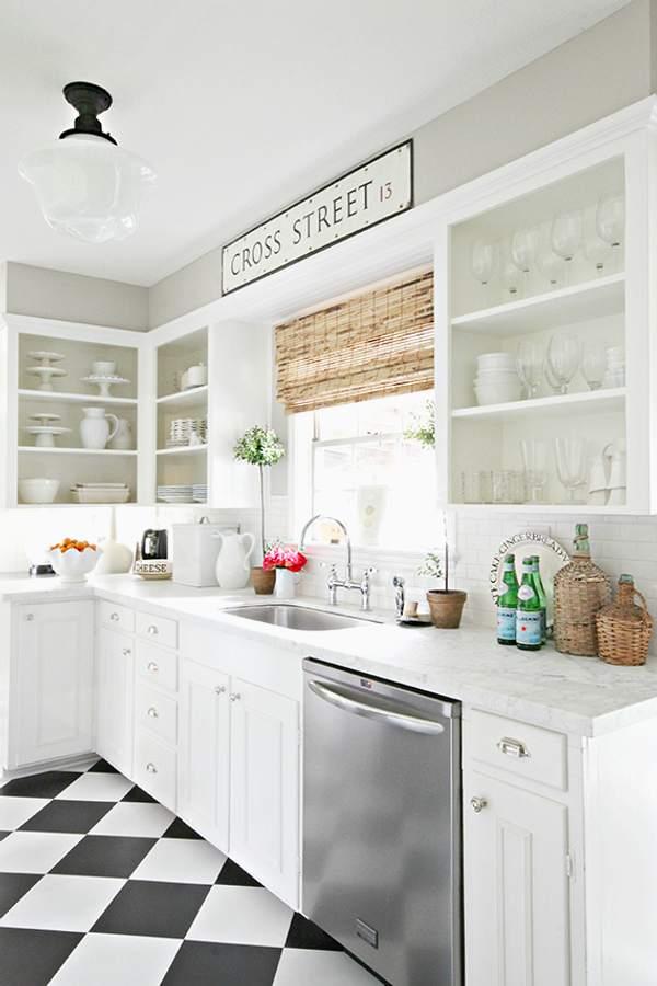 Super Zwart wit vloer keuken - THESTYLEBOX BW-47