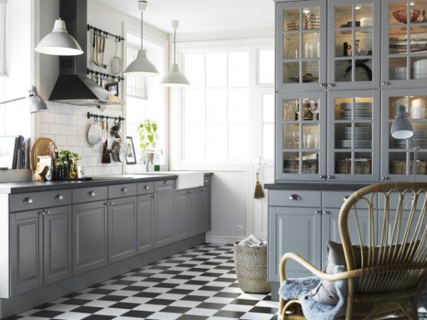 Zwart wit vloer keuken thestylebox
