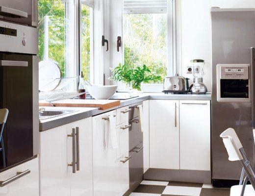 zwart wit vloer keuken