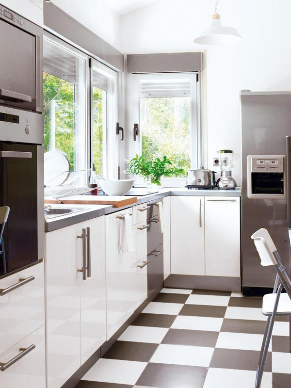 Super Zwart wit vloer keuken - THESTYLEBOX LA-35