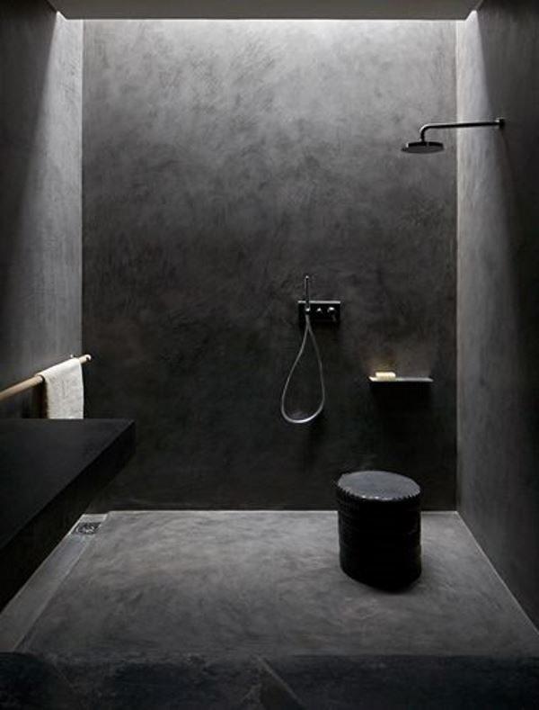Zwarte badkamer thestylebox - Badkamer zwarte vloer ...