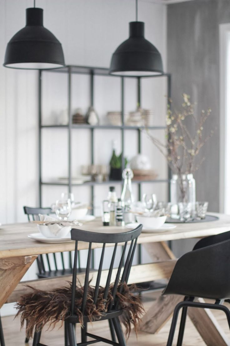 Industri le hanglamp thestylebox - Dining houten wit ...