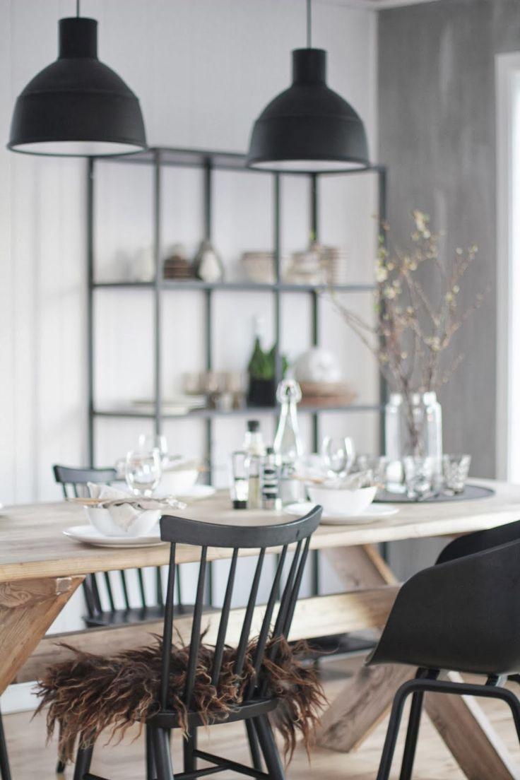 Industri le hanglamp thestylebox for Zwarte eetkamerstoelen