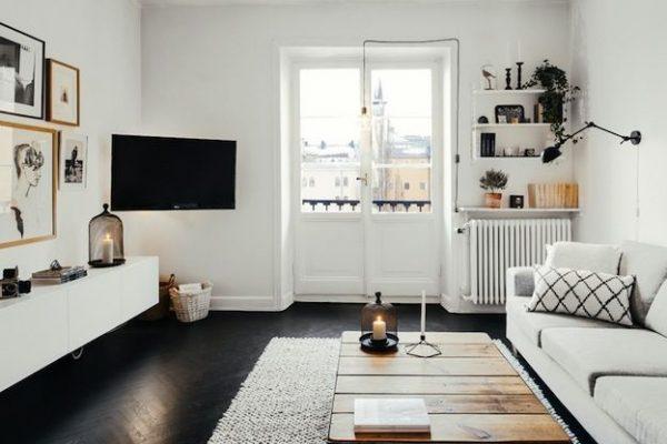 zwarte vloer woonkamer - thestylebox, Deco ideeën
