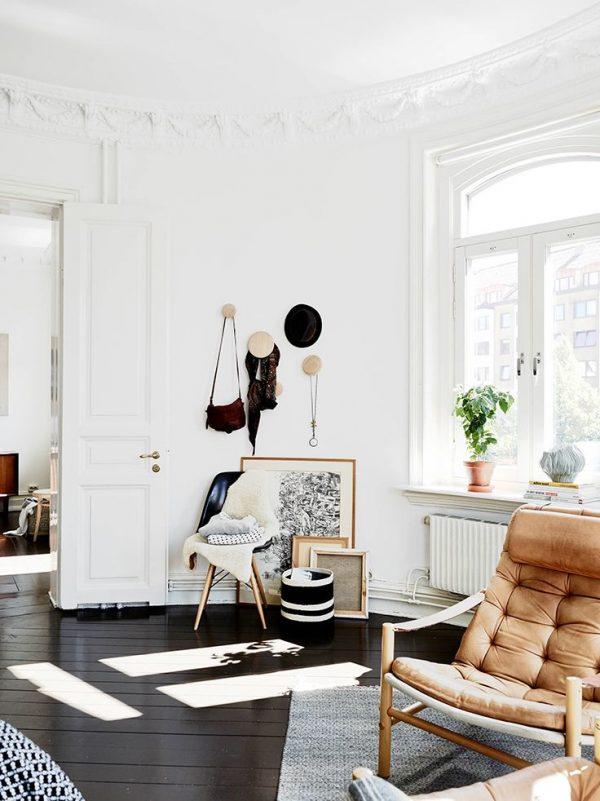 Zwarte vloer woonkamer - THESTYLEBOX