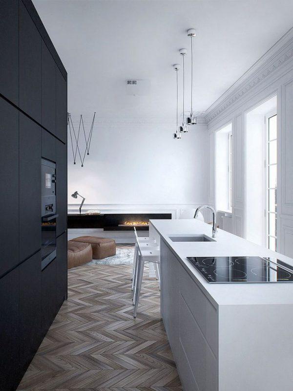 zwartwit keuken
